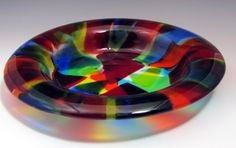 Fused and Cast Art Glass Bowls Made by Cassandra (Sandy) Beach