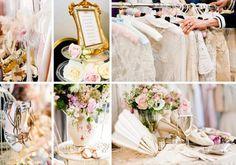 décoration vintage en couleurs pastel pour un mariage shabby chic