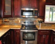 [ Granite Countertops Tile Backsplash Ideas Eclectic Kitchen Granite Countertop Backsplash Ideas Kitchen Places ] - Best Free Home Design Idea & Inspiration Stacked Stone Backsplash, Countertop Backsplash, Black Granite Countertops, Outdoor Kitchen Countertops, Herringbone Backsplash, Granite Kitchen, Backsplash Ideas, Light Granite, Backsplash Design