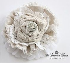 How to Make Fabric Flowers Continued . DIY Tutorial The Decorated House: ~ How to Make Fabric Flowers . DIY TutorialThe Decorated House: ~ How to Make Fabric Flowers . Making Fabric Flowers, Cloth Flowers, Burlap Flowers, Flower Making, Diy Flowers, Shabby Chic Flowers, Shabby Chic Crafts, Faux Flowers, Wedding Flowers