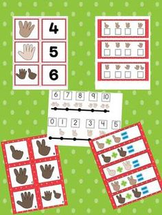 Finger Counting Packet and Matching Posters $