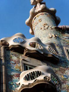 Casa Batllo, Gaudi, Barcelona, Spain Lámina fotográfica por Manuel Cohen en AllPosters.es