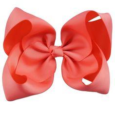 1x6 Inch Girls Baby Kid Unicorn Big Hair Bows Princess Ribbon Clip Hairpin