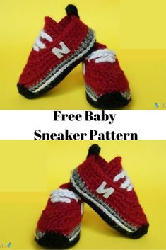 This is a realistic crochet baby sneaker pattern, Don't worry they easy to make. Written pattern included a video tutorial and picutures. Crochet Baby Boots, Crochet Baby Sandals, Knit Baby Booties, Booties Crochet, Crochet Shoes, Newborn Crochet, Knitted Baby, Crocheted Slippers, Baby Shoes Pattern