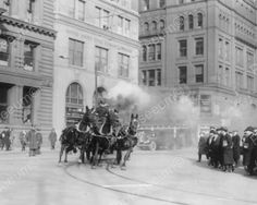 Horses Drawn Fire Engine NY Fire Dept 8x10 Reprint of Old Photo | eBay