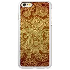 The Most Elegant Gold Paisley Pattern Incipio Feather® Shine iPhone 6 Plus Case. See Personalized, unique gold iPhone 6 Plus Cases http://www.zazzle.com/cuteiphone6cases/gold+iphone+6+plus+cases?ps=120&qs=gold%20iphone%206%20plus%20cases&dp=252519169581922263&pg=2&rf=238478323816001889&tc=GoldiPhone6PlusCases #GoldiPhone6PlusCase #iPhone6Plus #iPhone6PlusCase