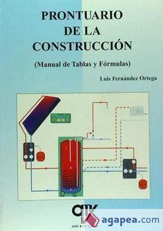 Prontuario de la construcción (manual de tablas y fórmulas)