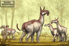 Dentro de la increíble fauna sudamericana del pleistoceno hay dos exponentes que me gustan mucho: El Macrauquenia ( Macrauchenia pata...