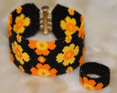 wristband - ring Delica beads hand-woven wristband 17 cm Orders are taken on another dimension   in order for the other necklace You can look at the address https://www.facebook.com/media/set/?set=a.1660370394205999.1073741825.1655250228051349&type=3