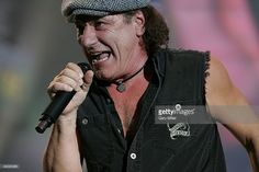 Lead singer Brian Johnson of the Australian band AC/DC performs in concert at the AT&T Center on December 12, 2008 in San Antonio, Texas.