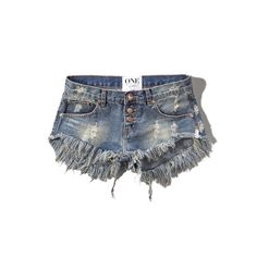 Abercrombie & Fitch One Teaspoon Bonitas Shorts (130 CAD) ❤ liked on Polyvore