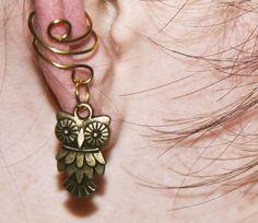 Brass Owl - Ear Cuff