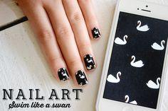 O Fantástico Mundo de Jess: Nail art: Swim like a swan + tutorial