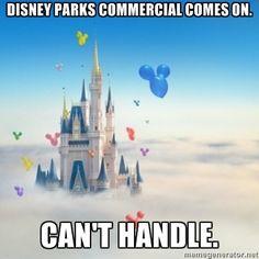 I LOVE Disney Park commercials.