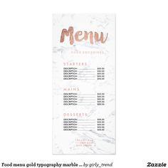 Elegant white bokeh salon price list menu rack card design elegant food menu gold typography marble price list colourmoves
