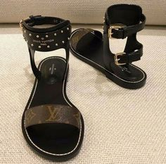LV signature Gladiator Sandals for Sale in Atlanta, GA - OfferUp Lv Shoes, Hype Shoes, Me Too Shoes, Louis Vuitton Shoes, Sandals For Sale, Bvlgari Bags, Gladiator Sandals, Flat Sandals, Comfortable Shoes