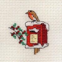 Borduurpakket Robin on Postbox
