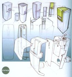 """""""For i-Products, we completely developed the KeyFree system from the first sketches until the end product, 2006. This system hangs on a door and in an emergency it can release a key from distance, using a mobile phone. [...] A semi-transparent lid was designed in order to show the key and the battery LED inside."""" """"SKETCHING - drawing technics for product designers"""" by Koos Eissen & Roselien Steur, 2007 BIS Publishers, p.184"""
