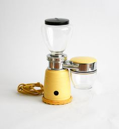 Quick Mill Omre Vintage Yellow Electric Coffee Grinder - Made in Italy