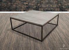 Tøft og solid Raffles sofabord med jern understell og gråtonet resirkulert alm. Et rustikt og stilrent møbel med god tyngde.  www.novasolo.no
