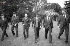 Documentary Wedding Photography Groomsmen Shot at Great Tythe Barn, Tetbury