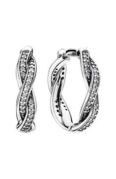 PANDORA 'Twist of Fate' Hoop Earrings available at #Nordstrom