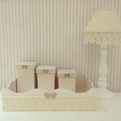 Kit higiene laços e renda, com pérolas e strass #kithigiene #handmade #mdf #laços #strass #pérolas # - bonecaria_da_bel