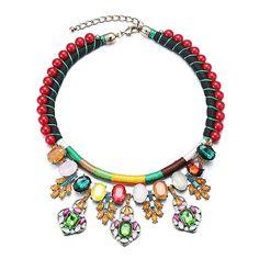 Amazon.com: ZMJ Statement Fashion Necklace Handmade Exaggerated Gogerous Jewelry (J-SN67COFFEE): Clothing
