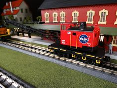 MTH Spotlight http://mthtrains.com/railking/spotlight/06_2015/b On the rails today the just arrived MTH RailKing O Gauge American Crane. Featured in the 2015 Volume 1 RailKing & Premier O Gauge Trains Catalog the American Crane comes in NASA 30-79461, Delaware & Hudson 30-79465 (not shown), Norfolk & Western 30-79463, and CP Rail 30-79467(not shown). The RailKing American Crane operates on O-31 curves and these 2015 models have a MSRP of $79.95. Ask you MTH Dealer about getting one today.