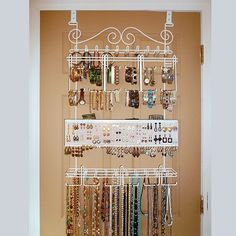 """Over-the-Door Jewelry Organizer from """"Control the Clutter: Jewelry"""""""