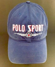 Mens Vintage Ralph Lauren Polo Sport Hat 90's 92 USA in Clothing, Shoes & Accessories, Men's Accessories, Hats | eBay