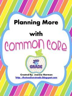 Common Core Planning Checklists (Second Grade)