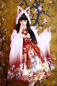 狐の嫁入りドレス(たまコラボ)〈ホワイト〉【9月末より随時発送予定】 - Royal Princess Alice Official Online Shop