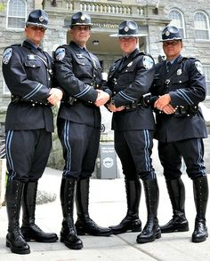 Group of tall black boots. Navy Uniforms, Police Uniforms, Police Officer, Cop Uniform, Men In Uniform, Soldier Haircut, British Army Uniform, Hot Cops, Army & Navy