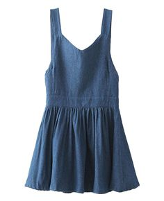 Sweet Bowknot-embellished Denim Overall Dress