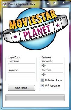 If you are looking for a MovieStarPlanet Hack or a MovieStarPlanet Hacker, you are at the right place. This MovieStarPlanet tool can teach you how to be a vip Movie Star Planet, Film Hacks, Movie Hacks, Msp Vip, Cheat Engine, World Movies, Online Dating, Cheating, Movie Stars