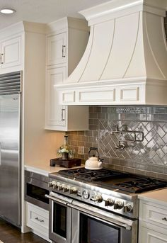 Backsplashes White Kitchen With Herringbone Backsplash Tile Best Of Cabinets Gray Subway Pot Filler Thermadore Range Moroccan Ideas For Tan Brown Granite