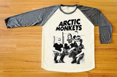Arctic Monkeys TShirt Indie Rock TShirt Raglan Tee by catarocx