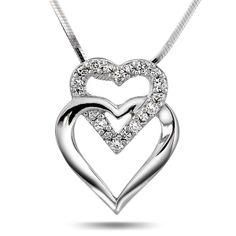 Sølv anheng med zirkonia Aha/PAN jewelry