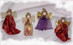 Ribbon Angel Christmas Ornament Tutorial - good detail and photos, so sweet and easy