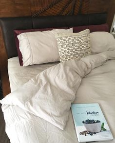 Perched new book. Fresh sheets. What else  ps. These silver bamboo set is the best investment I've made ✨ #bedroomdecor#bamboo