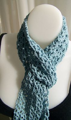 Crochet Cotton Scarf by Dylana Designs by DylanaDesigns on Etsy