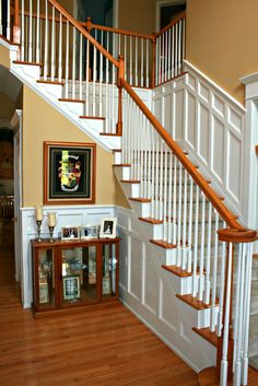 Mission style wainscoting along staircase wainscoting for Arts and crafts wainscoting