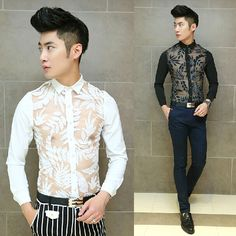Find More Casual Shirts Information about 2015 New Arrival Slim Fit Evening Club Sexy Shirt Fashion Cool Men Party Wear Black White ,High Quality shirt wear,China shirt vintage Suppliers, Cheap wear white t shirt from Great Store -- Manufactory Supply on Aliexpress.com