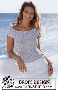 DROPS Top in Safran and Cotton-Viscose ~ this could easily be dressed up!
