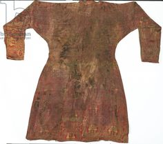 Brightly coloured Seljuk lampas robe, Central Asia, 11th - 12th century (silk) (see also 430214)