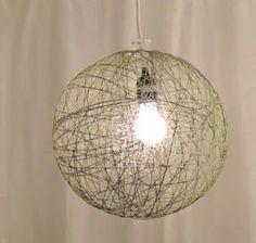 Como hacer una lampara colgante : cositasconmesh