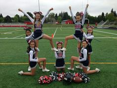 Great beginner cheerleading stunt :-). For tons of stunting tips, check out CheerleadingInfoCenter.com