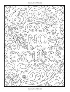 Inspirational Quotes: An Adult Coloring Book with Motivational Sayings and Positive Affirmations for Confidence and Relaxation Quote Coloring Pages, Adult Coloring Book Pages, Printable Adult Coloring Pages, Colouring Pages, Coloring Sheets, Coloring Books, Mandala Coloring, Mandala Art, Colors