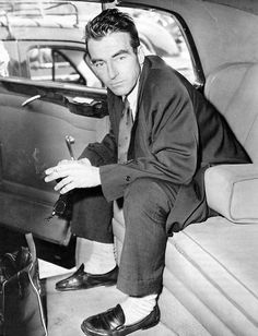 Montgomery Clift, 1950s. Love him. He had such a sad life after a car accident in front of Elizabeth Taylor's home. His biography is very good